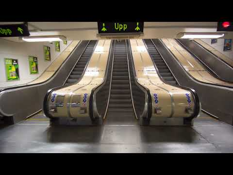 Sweden, Stockholm, Östermalmstorg subway station, Metro, U-Bahn, 17X escalator, 5X elevator