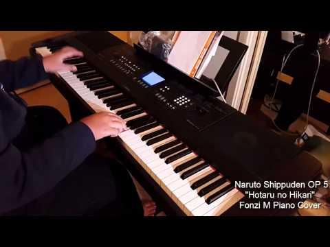 "[Naruto Shippuden Opening 5] ""Hotaru no Hikari""  (ホタルノヒカリ) - Fonzi M Piano Cover"
