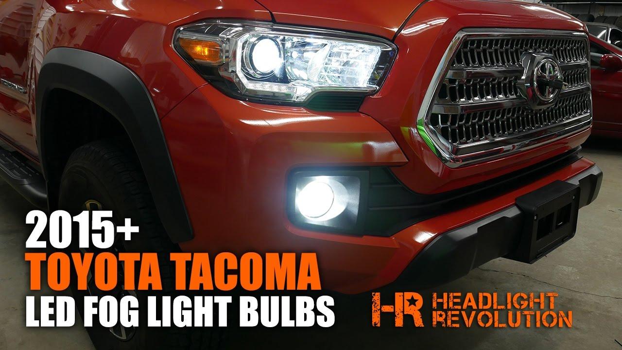 Toyota Tacoma Trd Sport >> 2015+ Toyota Tacoma LED Fog Light Bulb Upgrade and Install ...