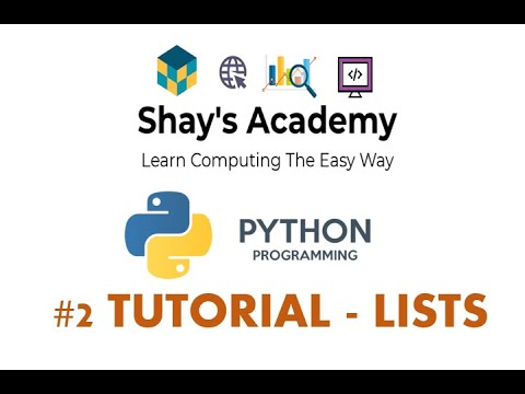 LISTS in Python || Python For Beginners || TUTORIAL #2 thumbnail