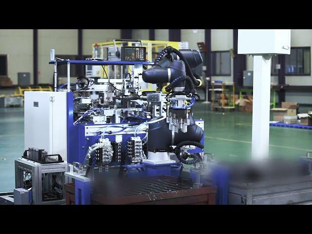 Asservimento macchina ultrasuoni con cobot Doosan Robotics A0912