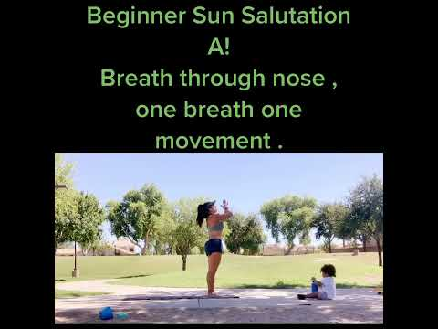 yoga for beginners sun salutation a surya namaskar ka