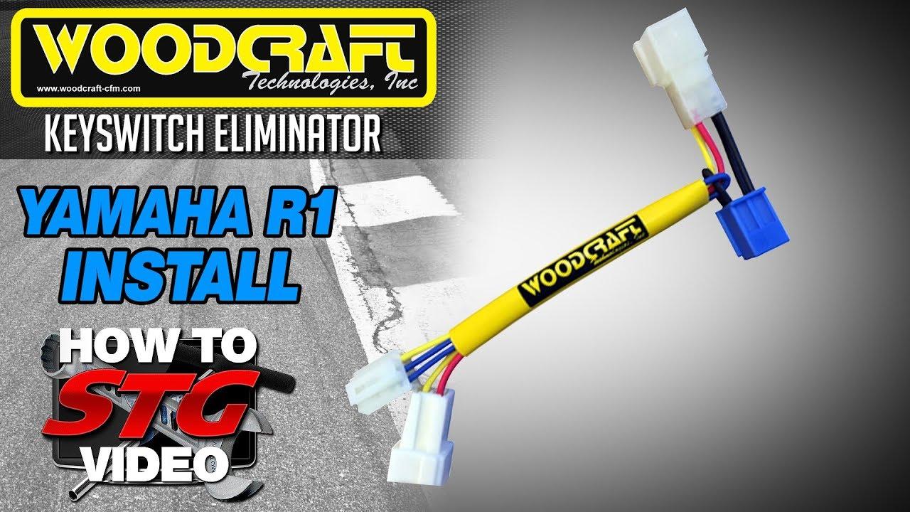 hight resolution of woodcraft keyswitch elimination harness install on a 15 17 yamaha yzf r1 from sportbiketrackgear com