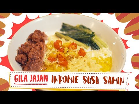 INDOMIE SUSU SAMIN  - Indonesian Street Food | Gila Jajan #32