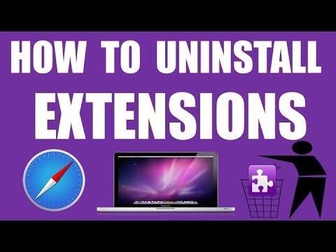 HOW TO REMOVE OR UNINSTALL SAFARI EXTENSIONS  ON MAC ?    APPLE SAFARI TUTORIALS FOR MAC   