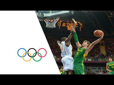 Basketball Men's Preliminary Round Group B Spain v Brazil  Full Replay  London 2012 Olympics