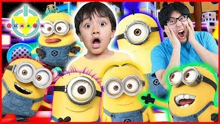 MINION-ÜBERNAHME! Roblox Flucht aus Minion Obby 2 ! Let es Play with Ryan & Daddy