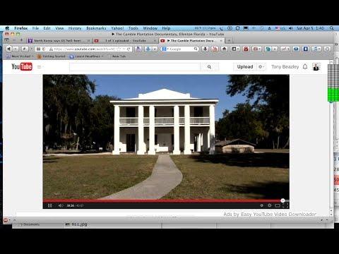 The Gamble Plantation Documentary, Ellenton Florida