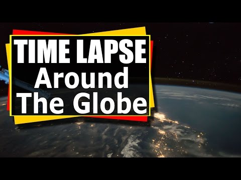 Time Lapse Video - Around The Globe - Created with images from Exp 51 on the ISS