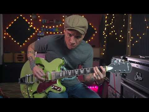 Eastwood Guitars Airline H78 Semi-Acoustic Demo With RJ Ronquillo