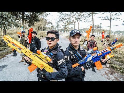 LTT Nerf War : Duo Swat SEAL X Warriors Nerf Guns Fight Criminal Group Dr.Lee Crazy Black