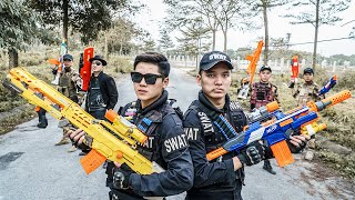 Download lagu LTT Nerf War : Duo Swat SEAL X Warriors Nerf Guns Fight Criminal Group Dr.Lee Crazy Black