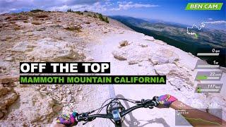 The best longest XC descent at Mammoth Mountain Bike Park