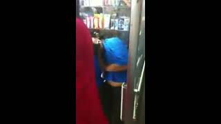 Crazy Fight In A Deli Store In NYC