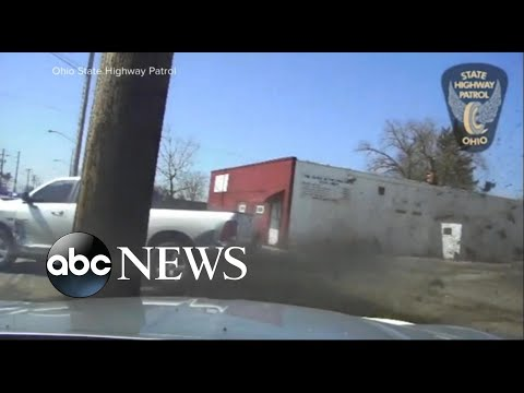 Police Dash Cam Captures Wild Chase Throughout Cleveland Streets