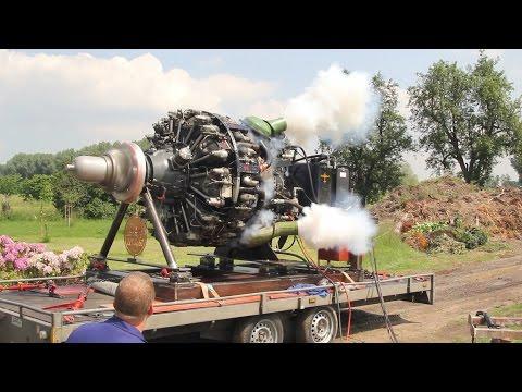 Saito 3 cyl radial engine start and running | FunnyCat TV