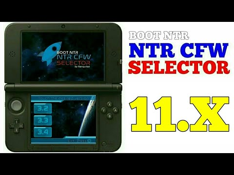 How to install NTR CFW/BOOT NTR Selector on Nintendo 3DS 11.10 and hack 3DS Games