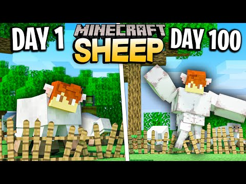 I survived 100 Days as a SHEEP in Minecraft