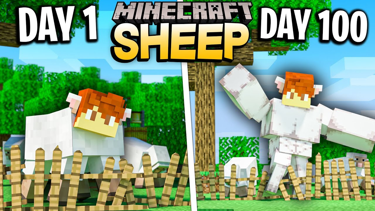 Download I survived 100 Days as a SHEEP in Minecraft