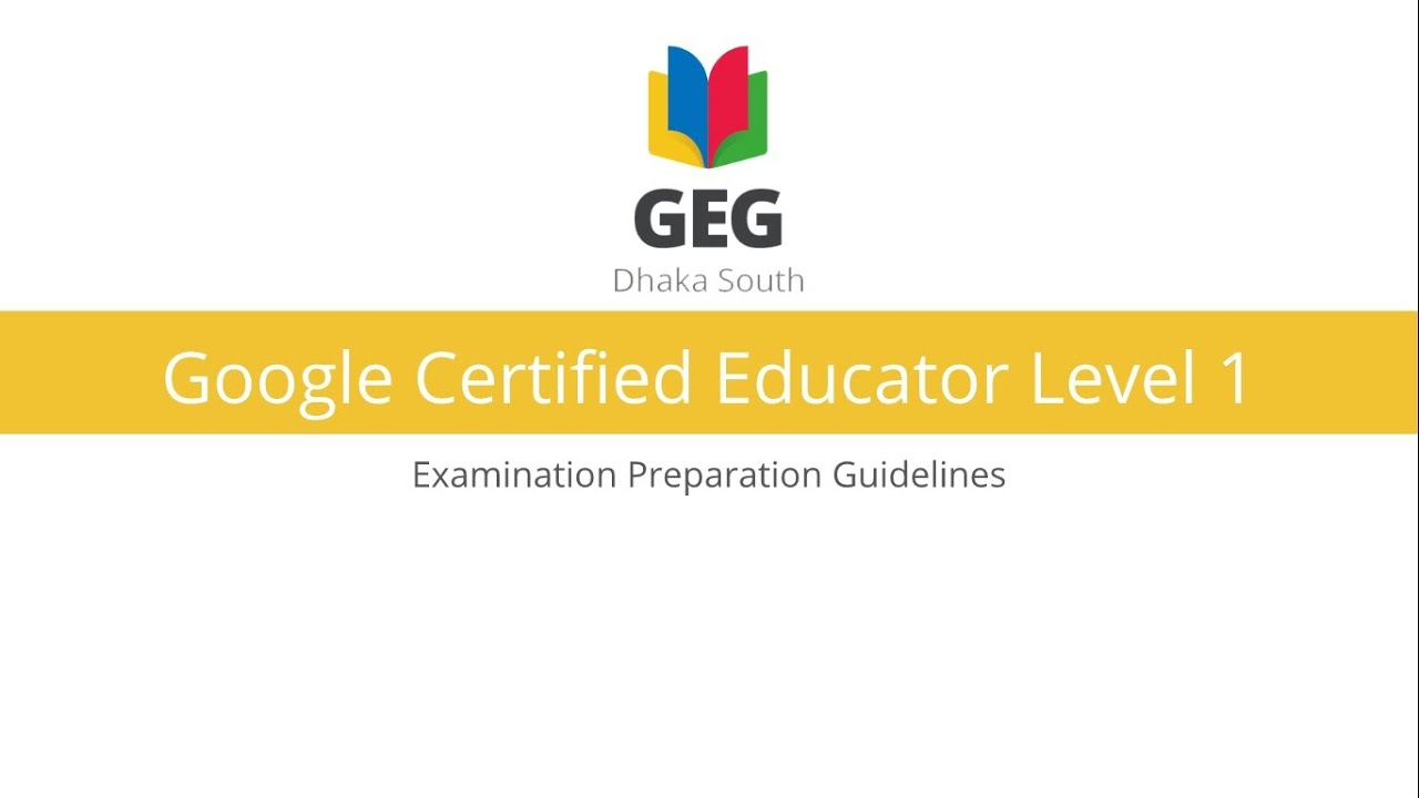 Google certified educator level 1 exam preparation guide slides google certified educator level 1 exam preparation guide slides included xflitez Image collections