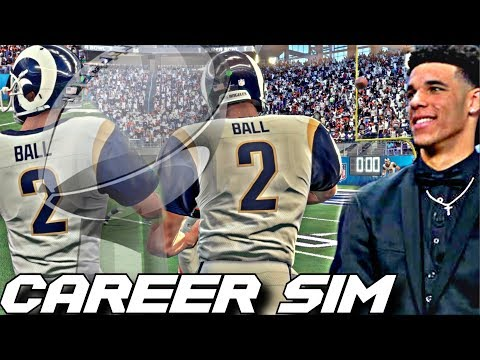 SIMULATING LONZO BALL'S NFL CAREER ON MADDEN 18!! THE NEXT TOM BRADY?!?