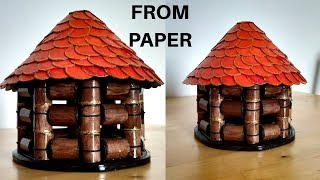 Newspaper Craft ||  Bird house || Best out of waste || recycling || Iris Craft Corner 54