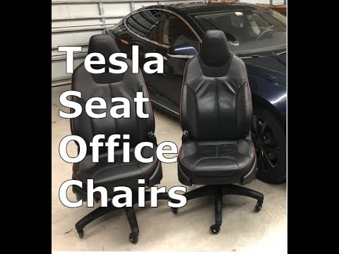 How To Turn Tesla Seats Into Office Chairs!