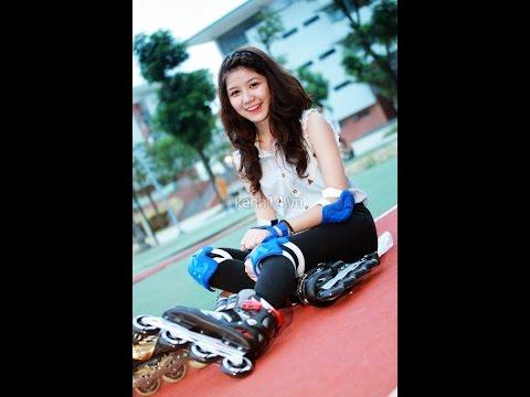 Gái Xinh trượt patin cực đáng yêu