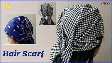 DIY Unisex Bandana|남여노소 두건 쉽게만들기|손바느질|Sewing by hand|NO Pattern|패턴없이|헤어스카프|반다나|머리수건|Hairscarf|バンダナ