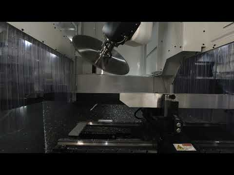 Aluminum Extrusion Miter Cut (Time-lapse) - By the C.R. Onsrud EX-Series Profile Machining Center