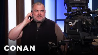 Tony The Cameraman Calls His Dad  - CONAN on TBS
