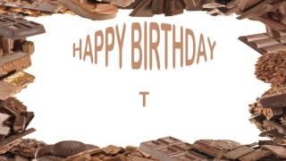 T   Birthday Postcards & Postales