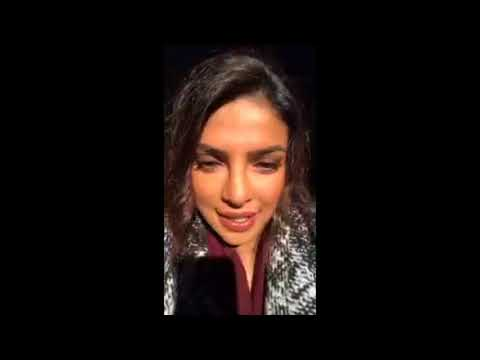 Priyanka Chopra Live on Instagram