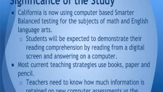 Declining Test Scores: Paper and Pencil Versus Online Reading Comprehension Assessments