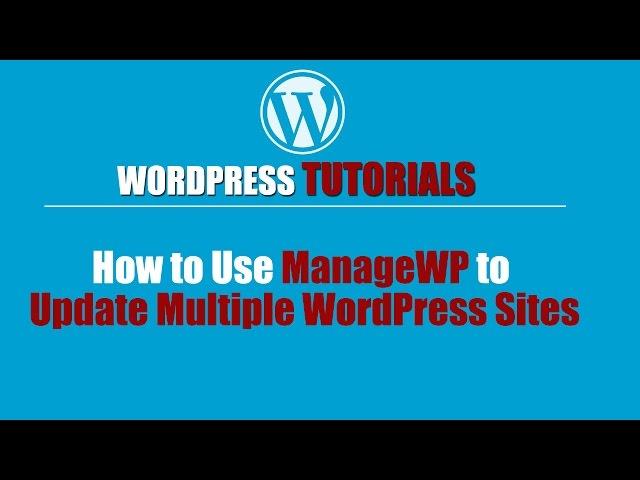Wordpres Tutorial - Wordpress Training-How to Use ManageWP to Update Multiple WordPress Sites
