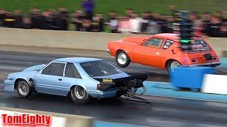 Muscle Cars Drag Racing at Anarchy No Prep
