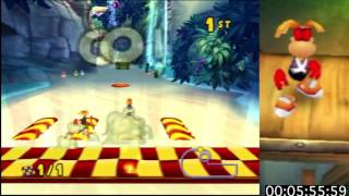 Rayman Arena: Master Obstacle Speedrun (13:50.25) [WORLD RECORD]