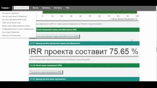 Бизнес-план превращения г. Васюки в столицу РФ и МФЦ. Серия 30. Определение эффективности инвестиций