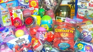 70 Kinder Surprise Eggs Thomas Spongebob Disney Pixar Dora Peppa Pig Mickey Mouse clubhouse by TheSu