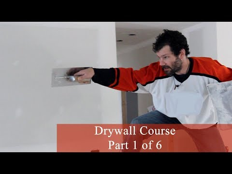 Drywall Course Part 1 Of 6 : How To Mud And Tape Like A PRO (IMPROVED AUDIO VERSION)