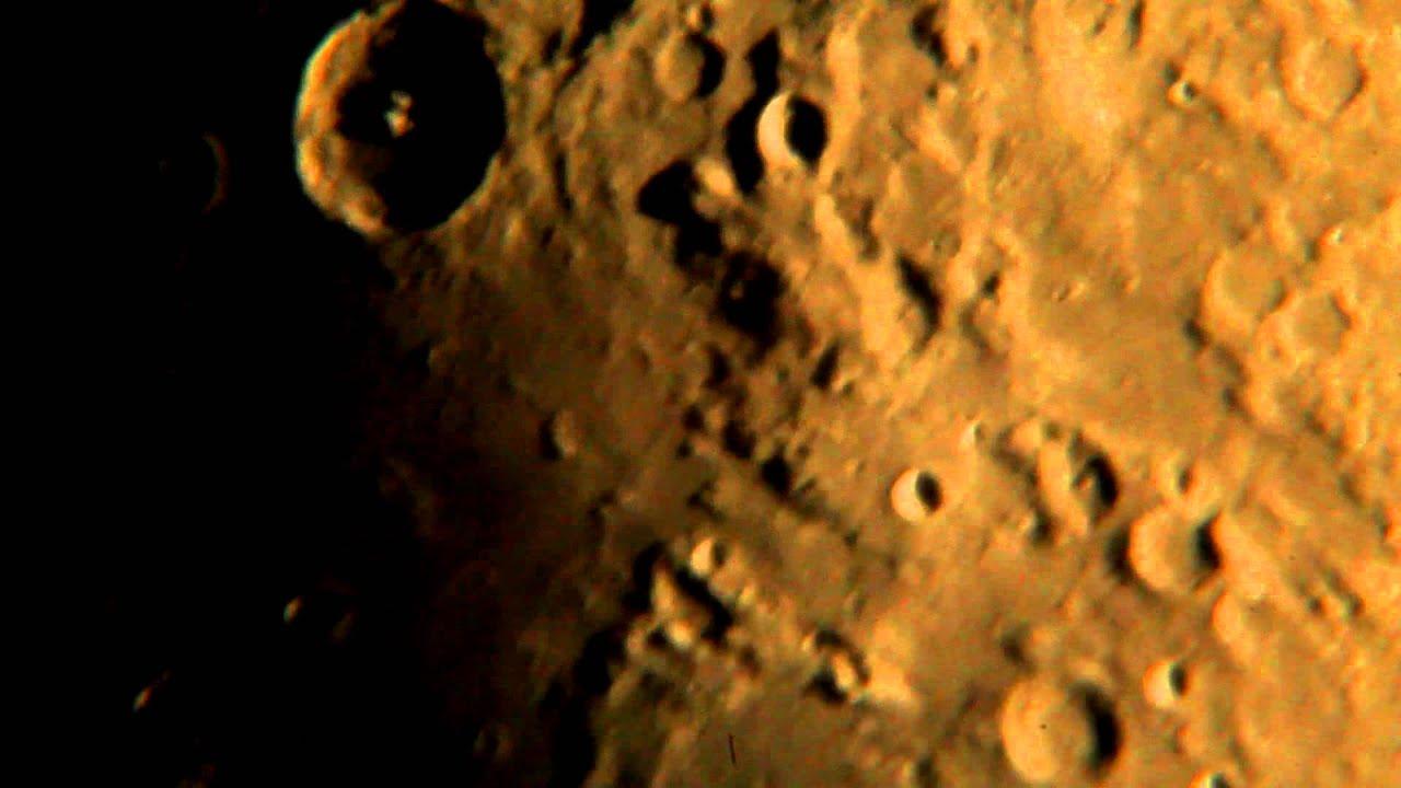 Mesiac cez teleskop youtube