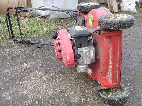 How to turn a lawn mower over on the correct side