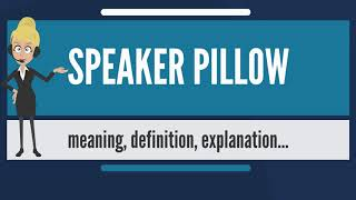 What is SPEAKER PILLOW? What does SPEAKER PILLOW mean? SPEAKER PILLOW meaning & explanation