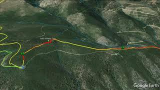 Lewis & Clark Historic Descent Trail - 4th Sept 1805 (Google Earth)
