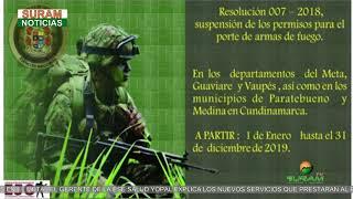 EL EJERCITO NACIONAL SUSPENSE LOS PERMISOS PARA EL PORTE DE ARMA