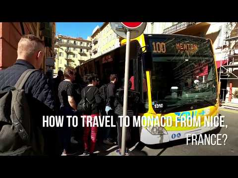 How to travel to Monaco from Nice, France by bus?