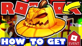HOW TO GET FREE PUMPKIN FEDORA IN ROBLOX