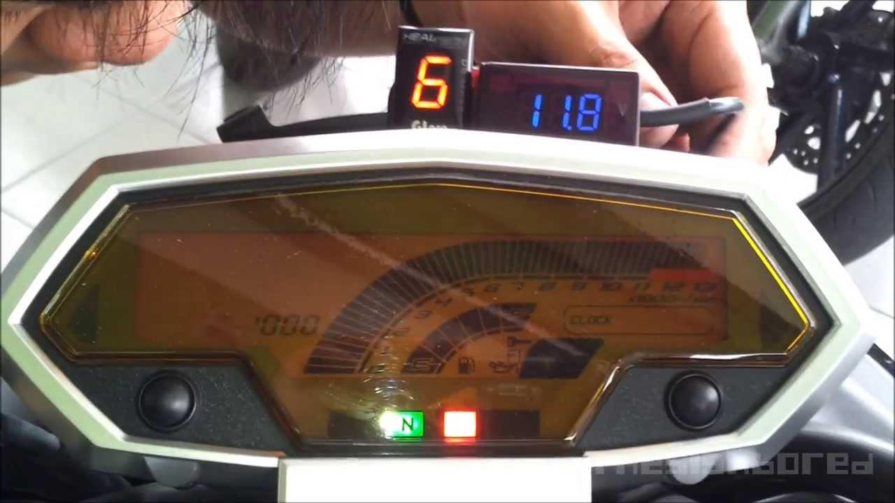Kawasaki Z1000 Voltmeter Installation Youtube