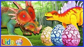 GIANT DINOSAUR SURPRISE EGGS OPENING ☘ Dinosaurs Cartoons For Children 🔥 LidoTV