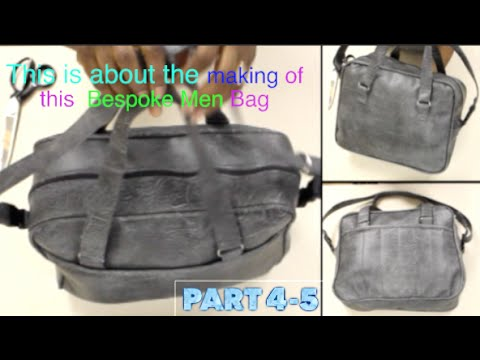 Making a Men Custom bag attaching Handle part 4